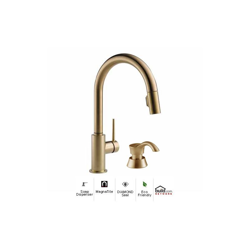 9159 Cz Dst Sd In Champagne Bronze By Delta
