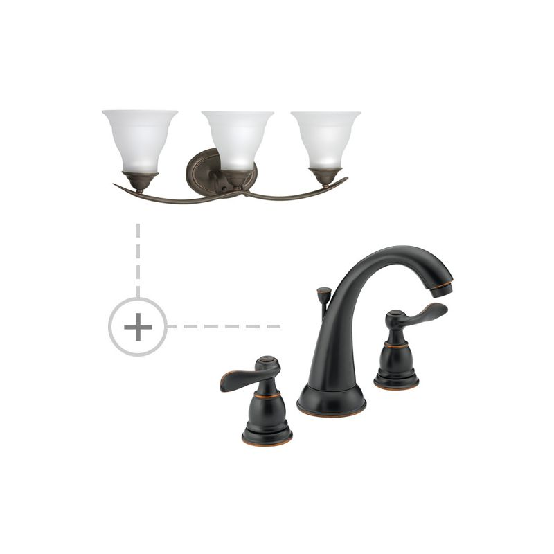 Delta Oil Rubbed Bronze Bathroom Faucet B3596LF P3192 Oil Rubbed Bronze In Oil Rubbed Bronze By