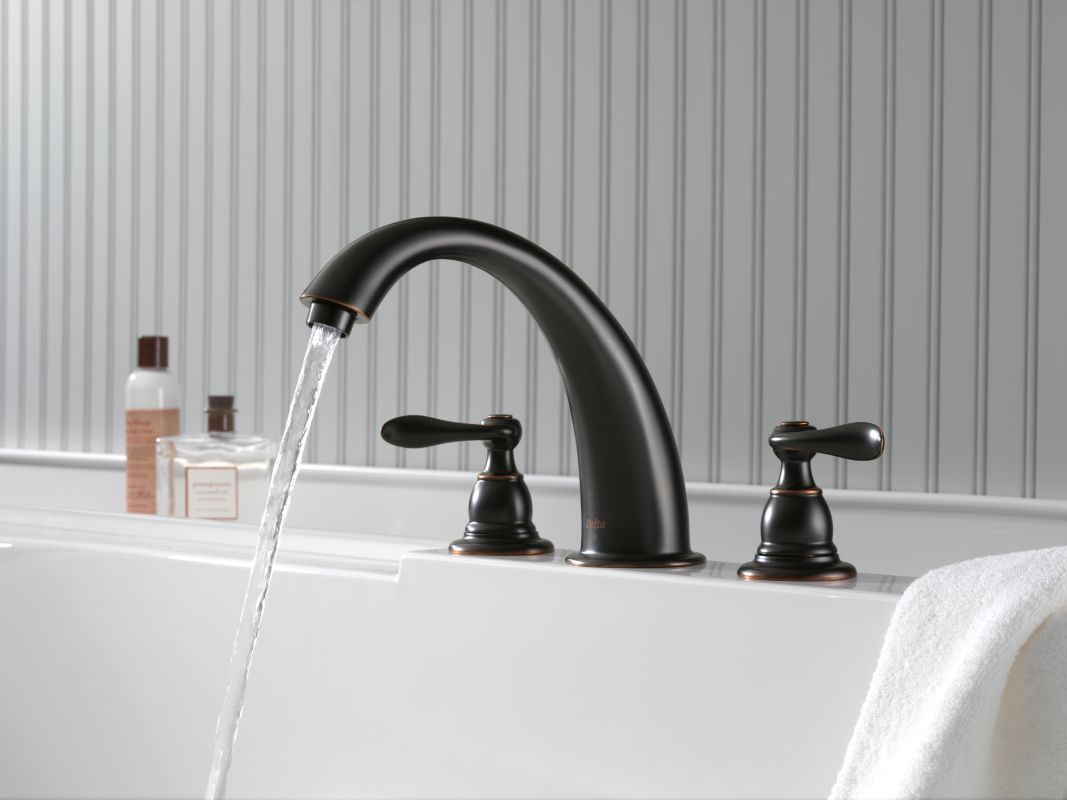 Delta Oil Rubbed Bronze Bathroom Faucet Delta BT2796 OB Oil Rubbed Bronze Windemere Roman Tub Faucet Trim