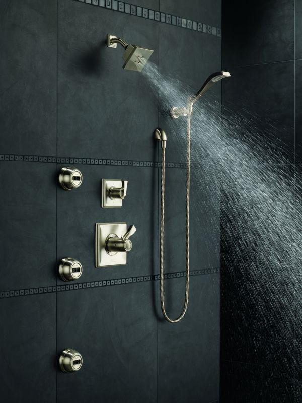 Dryden monitor 17 series shower system ss in for Body spray shower systems
