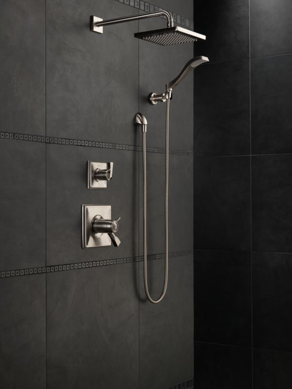 Dryden Monitor 17 Series Shower System Ss In Brilliance Stainless By Delta