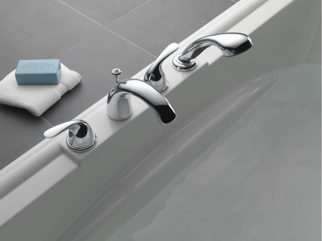 delta t4705 ss brilliance stainless classic roman tub faucet trim with