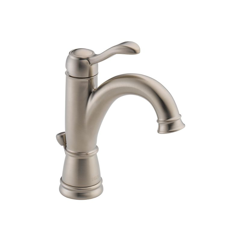 delta 15984lf bn brushed nickel porter single hole bathroom faucet