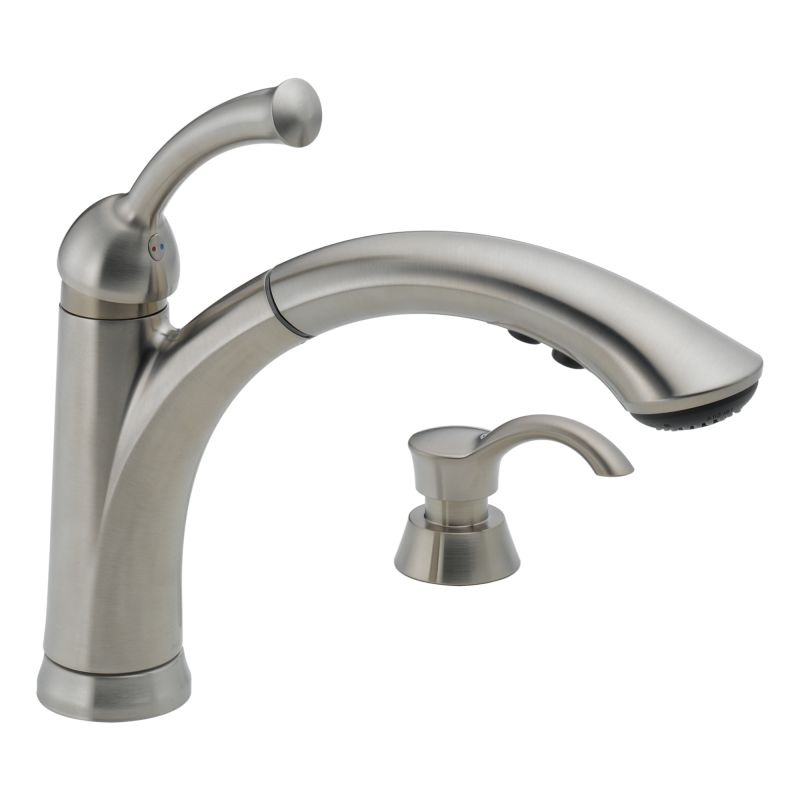 kitchen faucet with soap dispenser diamond seal and touch clean