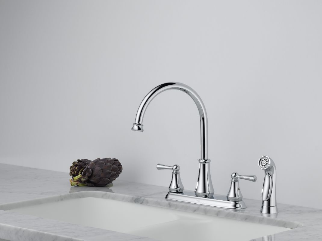 faucet com 21902lf ss in brilliance stainless by delta endearing delta one handle wall mount kitchen faucet