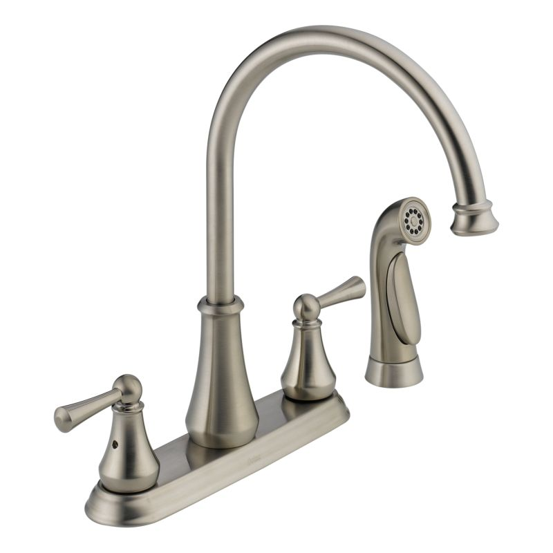 21902lf ss brilliance stainless lewiston side spray kitchen faucet