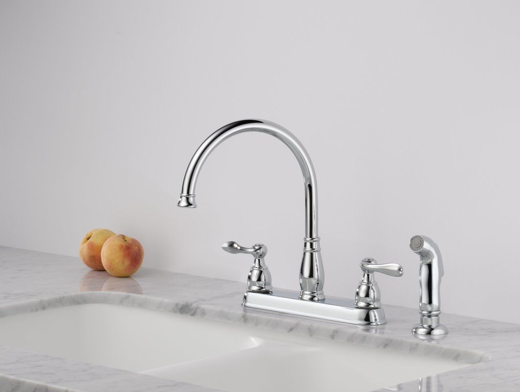 windemere side spray kitchen faucet bathroom sink faucets satin nickel