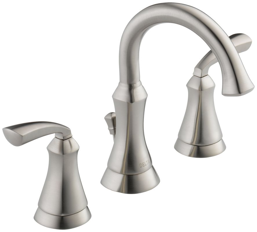 delta 35962lf ss stainless steel mandara widespread bathroom faucet
