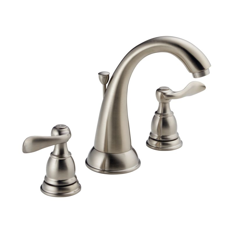 nickel windemere widespread bathroom faucet includes pop up drain