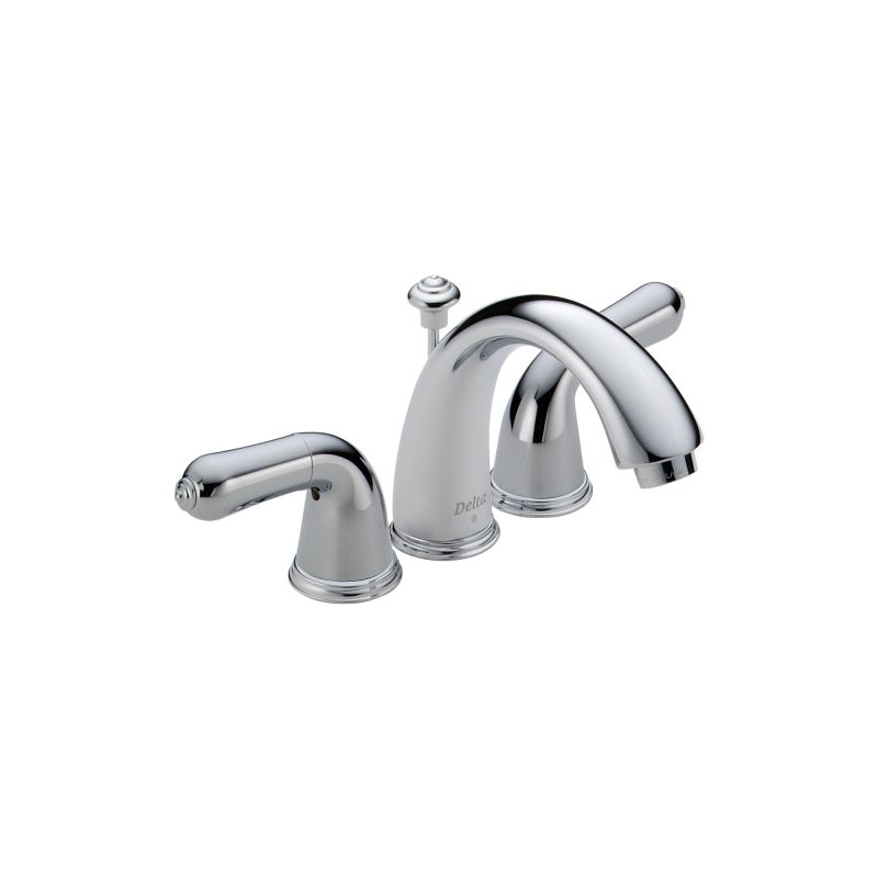 delta 4530 24 chrome double handle mini widespread lavatory faucet