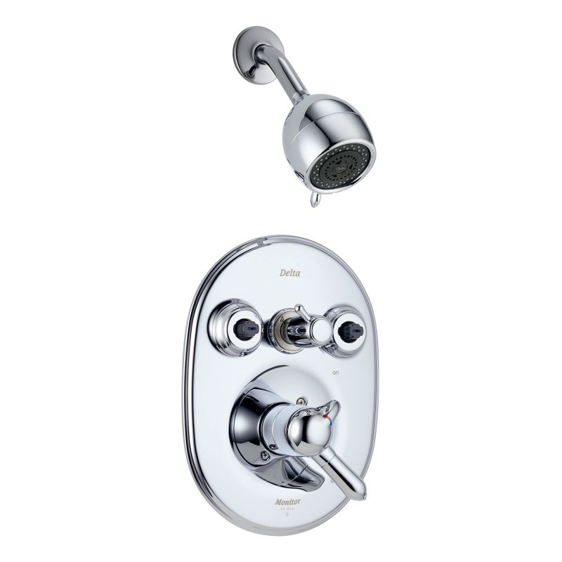 delta t18230 xo chrome double handle monitor 18 shower system with