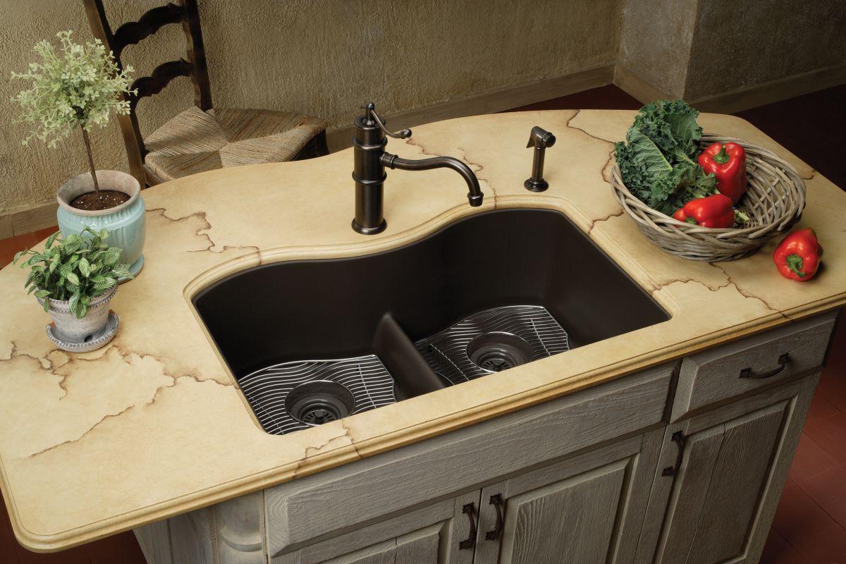Elgulb3322bq0 in bisque by elkay - Advantages disadvantages undermount kitchen sinks ...