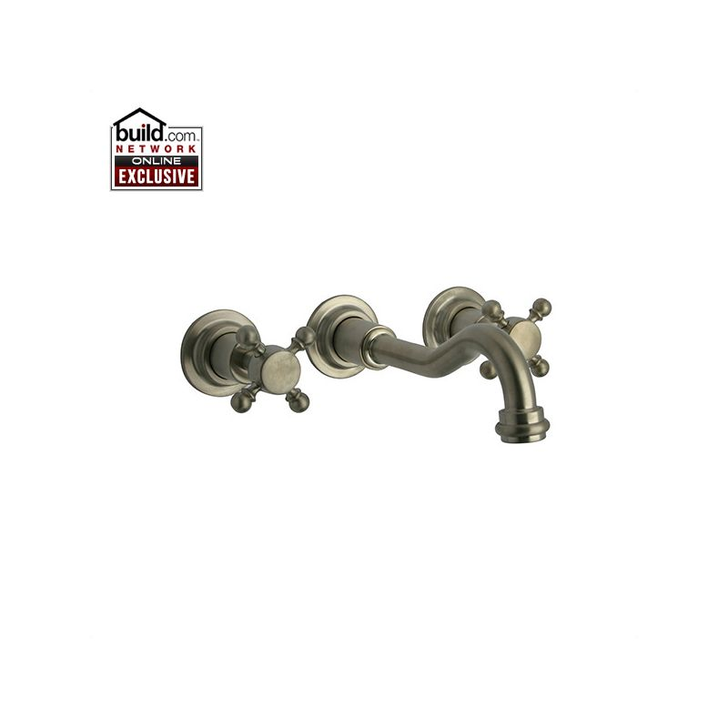 nickel caffe wall mounted bathroom faucet less rough in valve