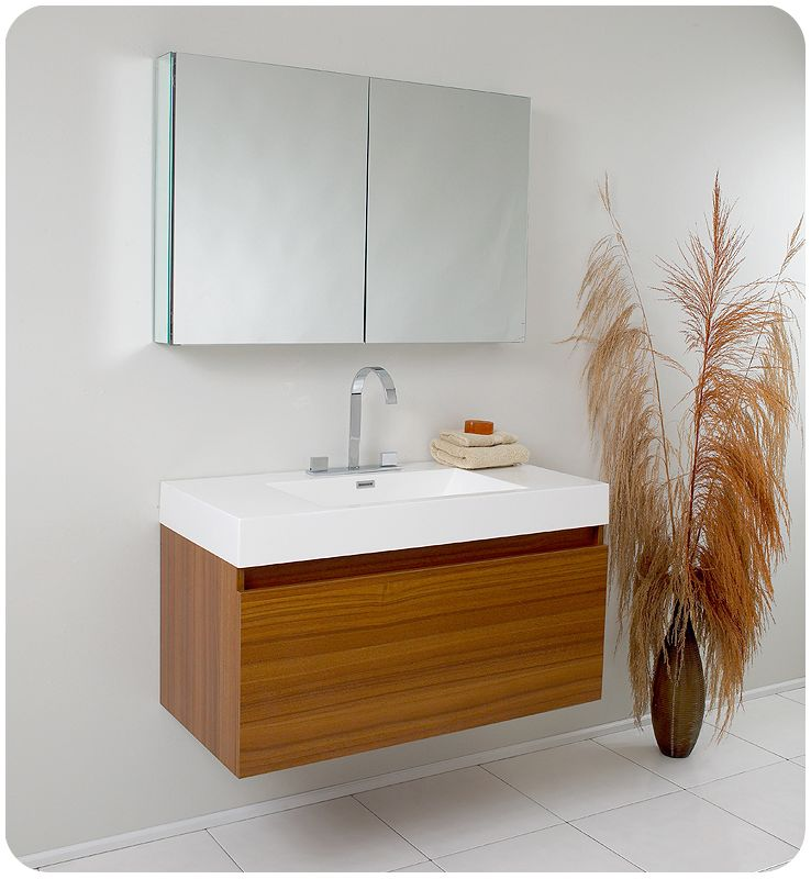 Fresca Mezzo Modern Bathroom Vanity Teak