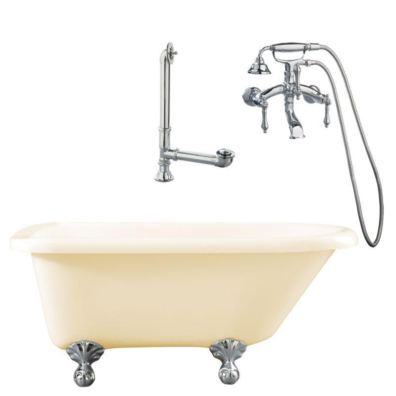 soaking tub package includes tub tub feet wall mounted tub filler
