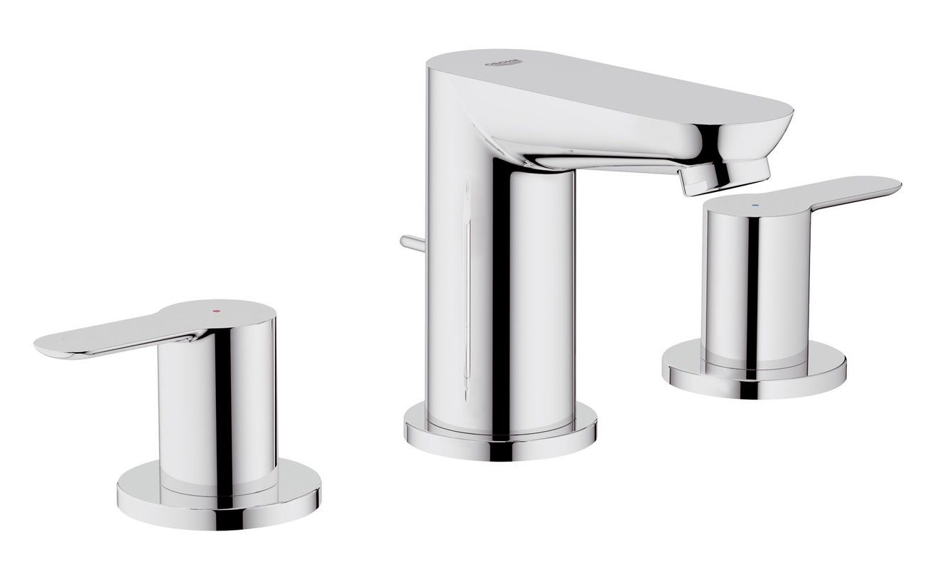grohe 20374000 starlight chrome closeout widespread bathroom faucet