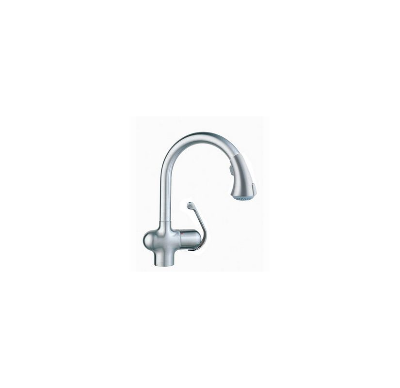 grohe 33755sd0 stainless steel ladylux cafe pull down kitchen faucet