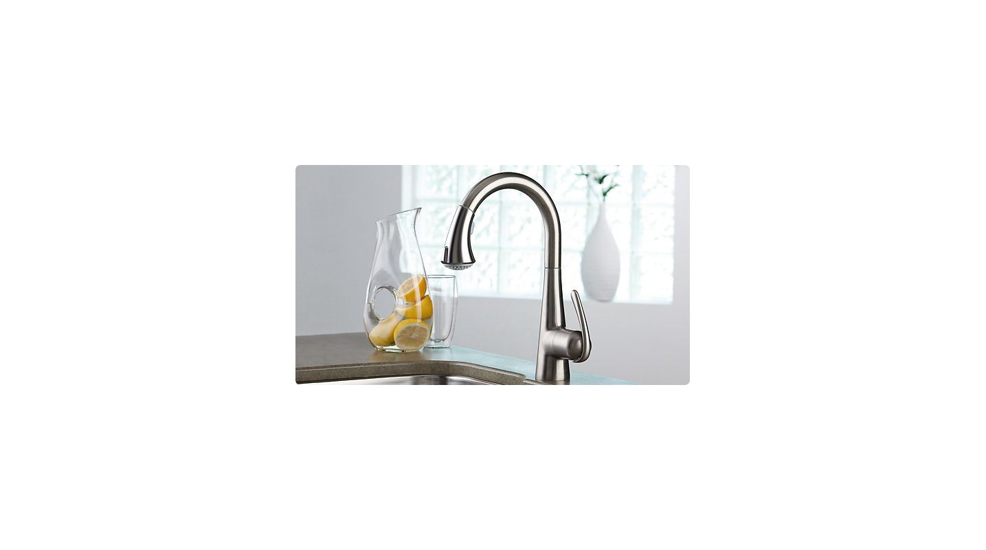 grohe 32298sd0 stainless steel ladylux3 pull down spray kitchen faucet