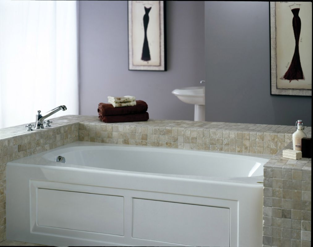 Extra deep soaking tub alcove home decor for Deep alcove bathtubs