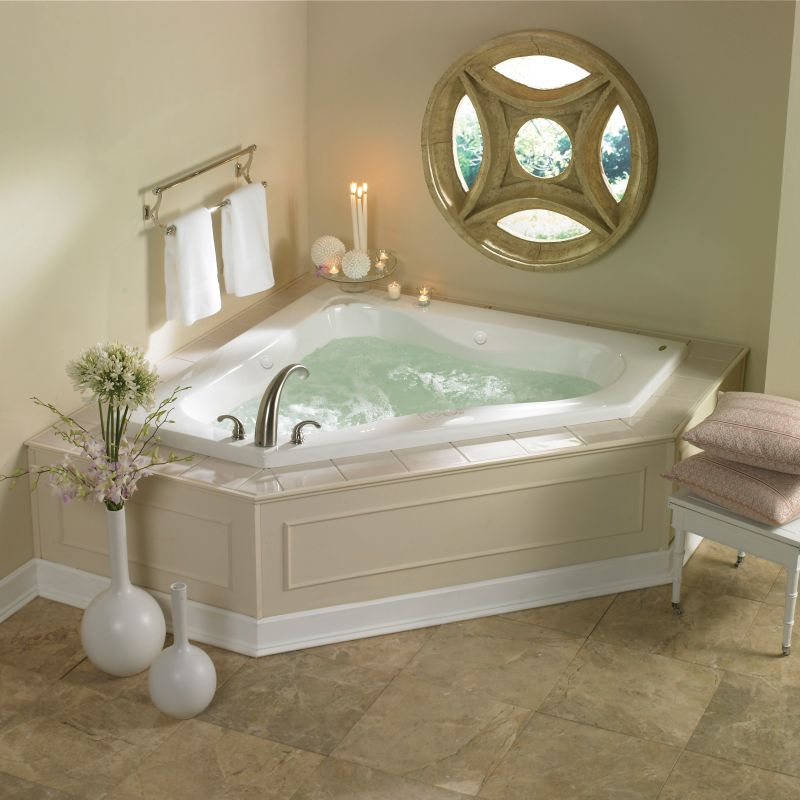 Esp6060wcl1hxw in white by jacuzzi - Corner tub bathrooms design ...