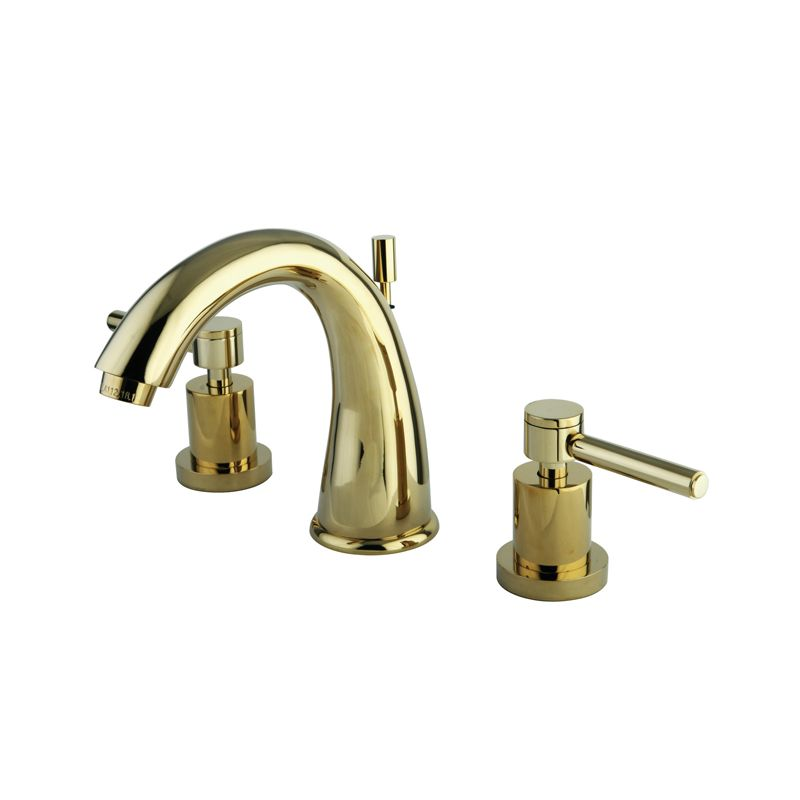 Brass Faucet : Brass KS2962DL Polished Brass Concord Widespread Bathroom Faucet ...