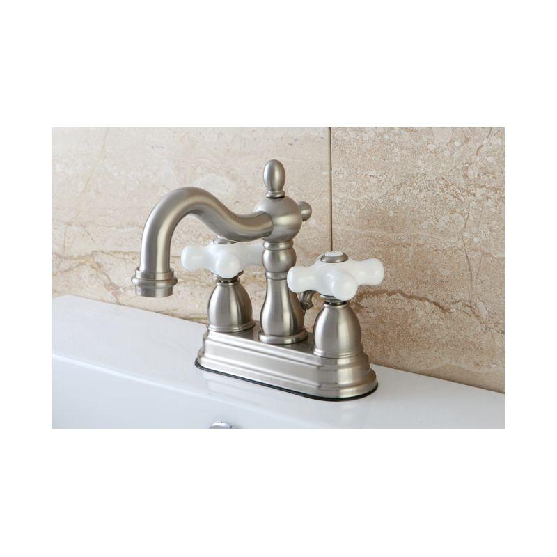 Antique Faucets : Brass KB1603PX Antique Brass Heritage Centerset Bathroom Faucet ...