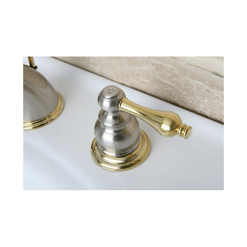 Brass Faucet : Polished Chrome / Polished Brass Victorian Widespread Bathroom Faucet ...