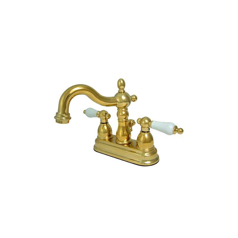 Brushed Brass Faucet : Brass KS1602PL Polished Brass Heritage Centerset Bathroom Faucet ...