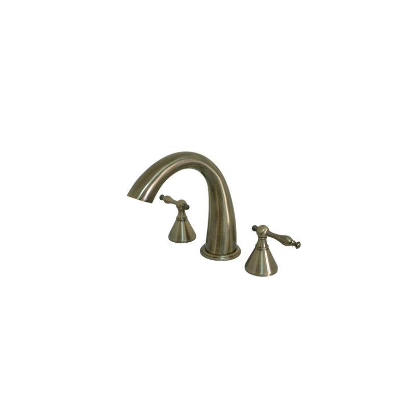 Vintage Faucets : Brass KS2363NL Vintage Brass Naples Widespread Roman Tub Filler Faucet ...
