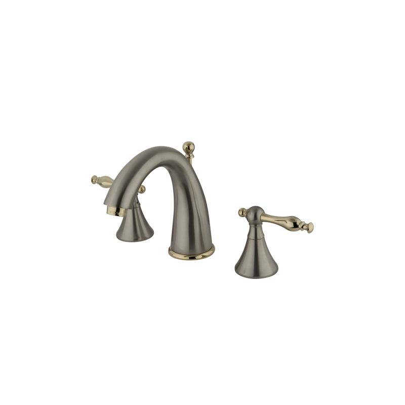 Satin Nickel / Polished Brass Naples Widespread Bathroom Faucet ...