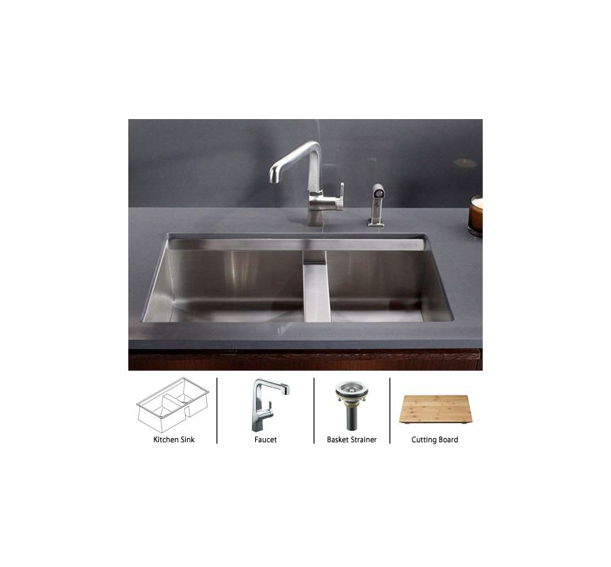 8 degree k 3672 package cp in stainless sink - Kitchen sink package ...
