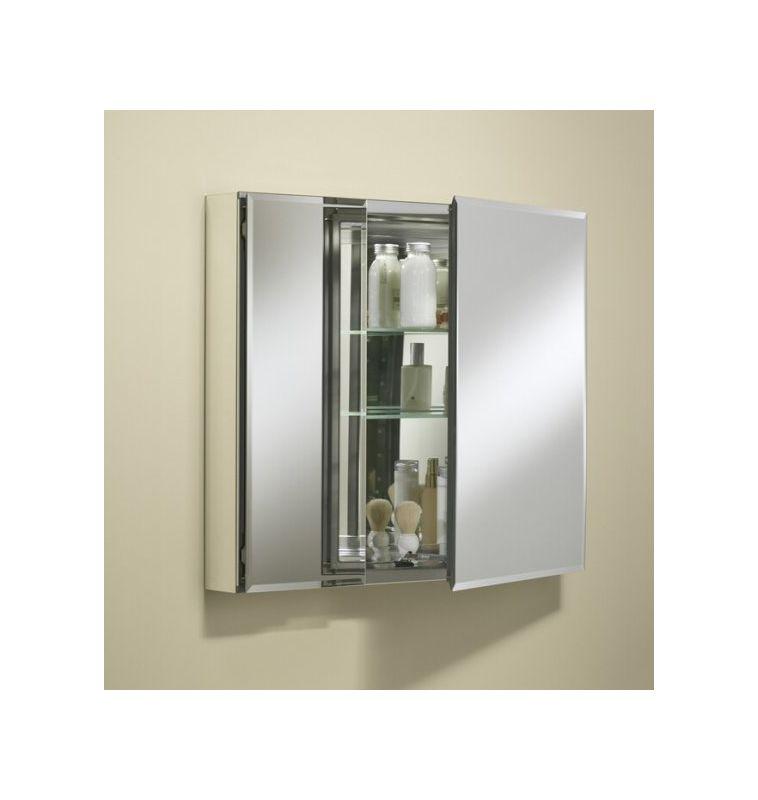 26 double door reversible hinge frameless mirrored medicine cabinet