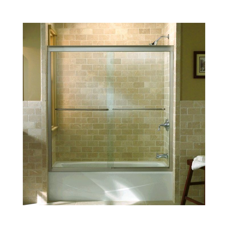 K 702200 l shp in polished silver by kohler for Porte coulissante baignoire