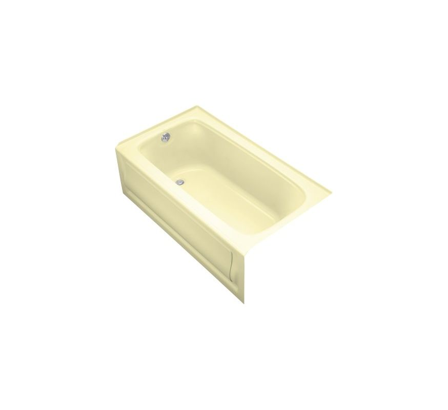 collection 60 three wall alcove soaking bath tub with left hand drain