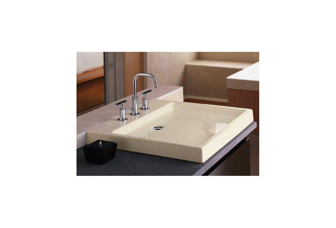 Kohler k 2200 vitreous china lavatory sink contemporary bathroom sinks - Http Www Faucet Com Kohler K 2314 Ice Grey Purist 22 Fireclay Vessel Sink F164530