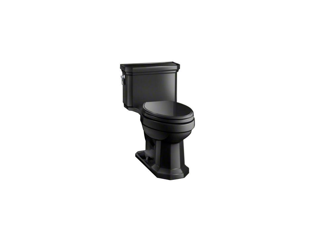 Kohler Black Faucet : Kohler K-3940-7 Black Black Kathryn 1.28 GPF One-Piece Elongated ...