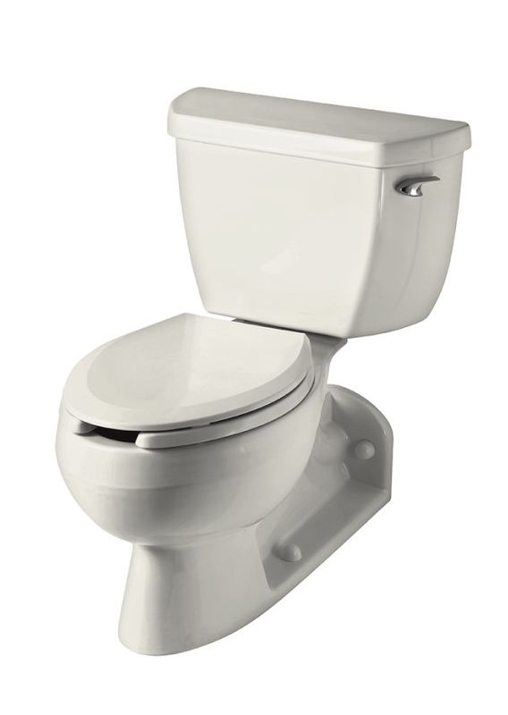 Kohler K-3554-RA-96 Biscuit Barrington Two Piece Elongated Toilet with ...