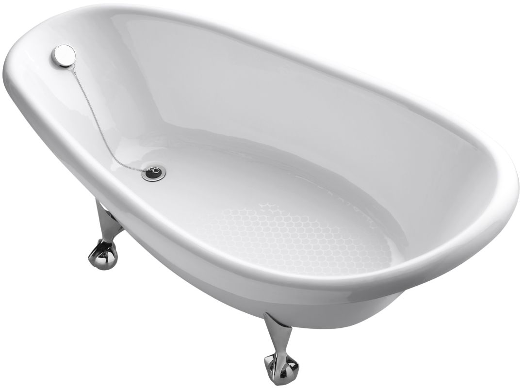 kohler k 100 0 white birthday bath 72 cast iron clawfoot soaking bath