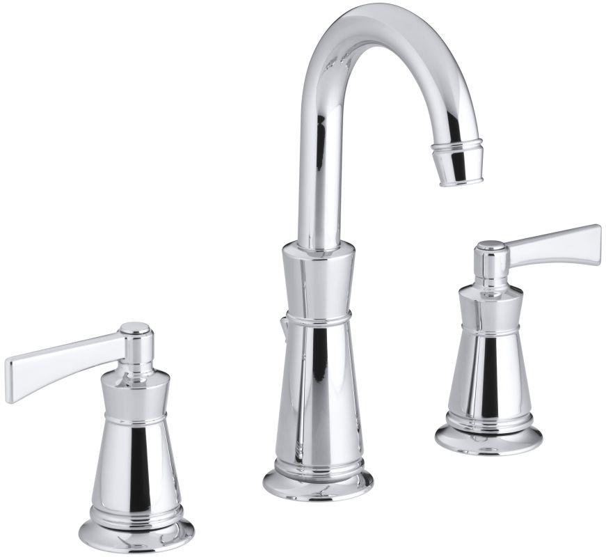 Kohler K-11076-4-CP Polished Chrome Archer Widespread Bathroom Faucet ...