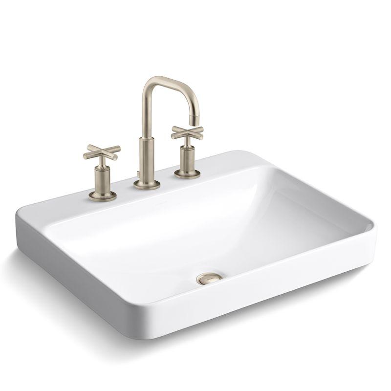 Kohler Vox Sink : Kohler K-14406-3/K-2660-8-BV Brushed Bronze Vox 22