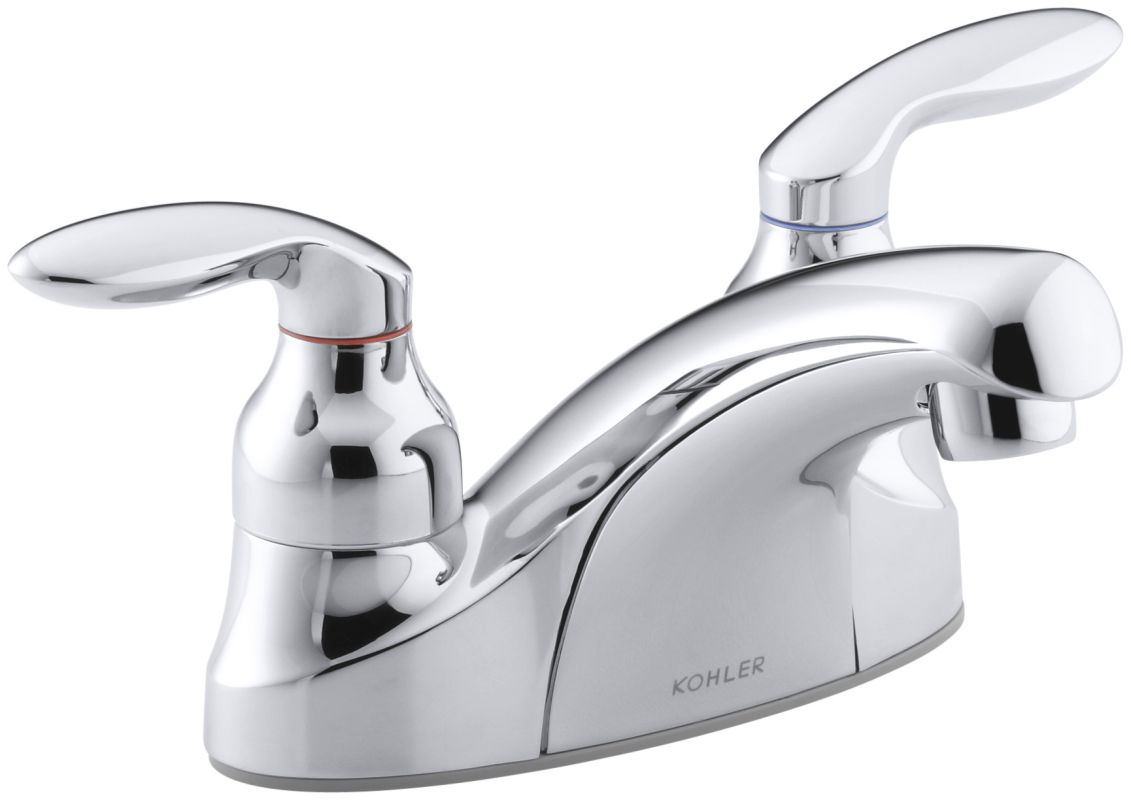 kohler k 15243 4 cp polished chrome coralais centerset bathroom faucet