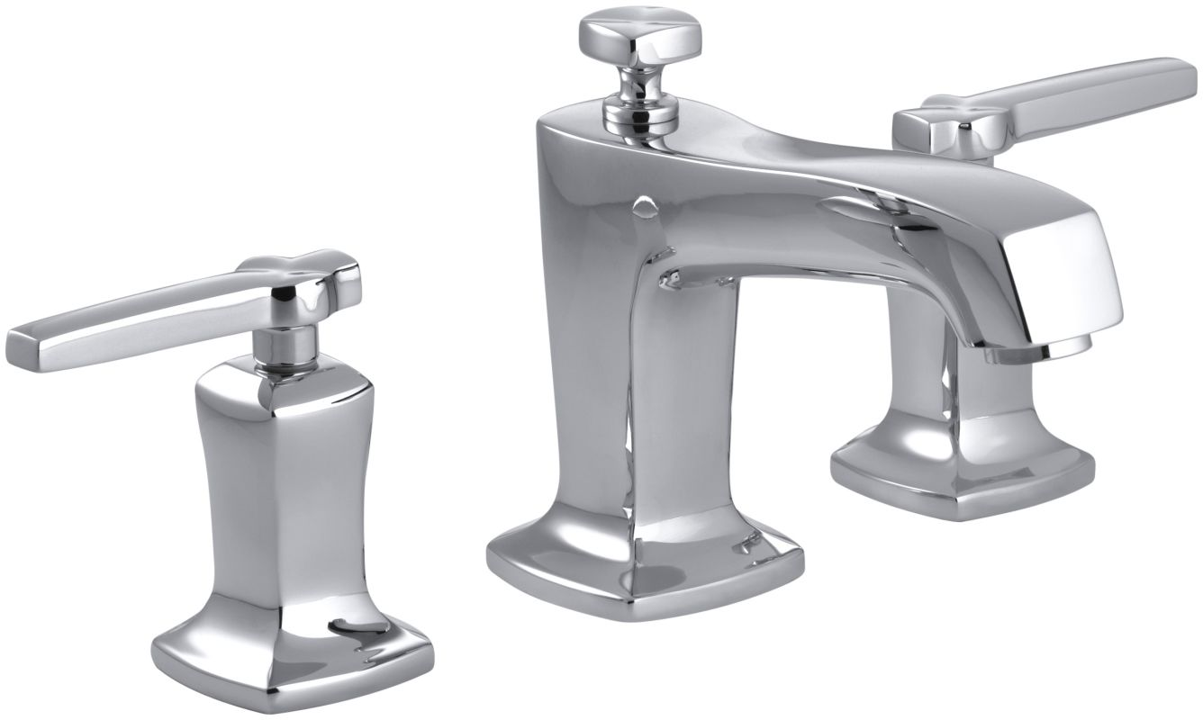 Kohler K-16232-4-CP Polished Chrome Margaux Widespread Bathroom Faucet ...