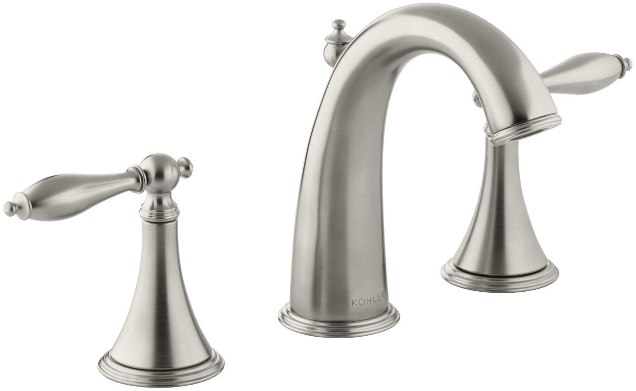 Widespread Bathroom Sink Faucets: K-310-4M-BN In Brushed Nickel By Kohler