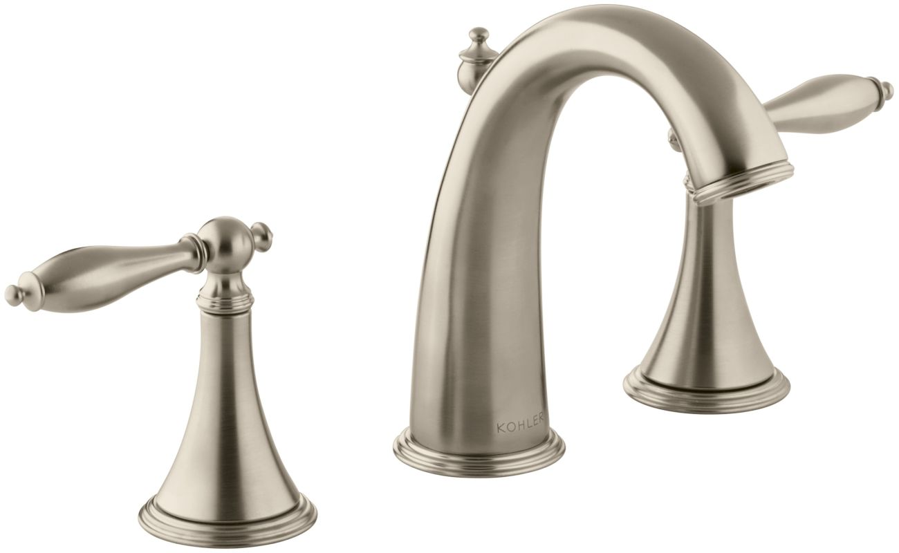Widespread Bathroom Faucet Clearance : 310-4M-BV Brushed Bronze Finial Traditional Widespread Bathroom Faucet ...
