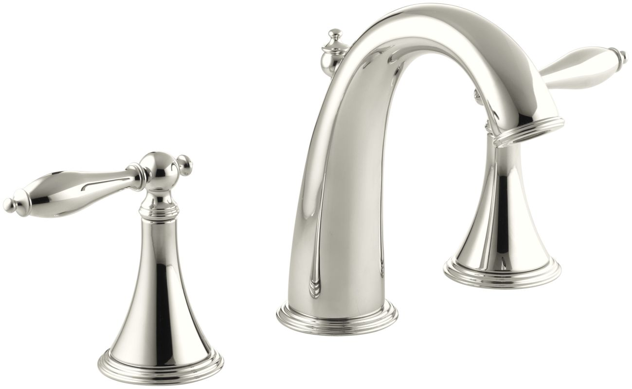 Widespread Bathroom Sink Faucets: K-310-4M-SN In Polished Nickel By Kohler
