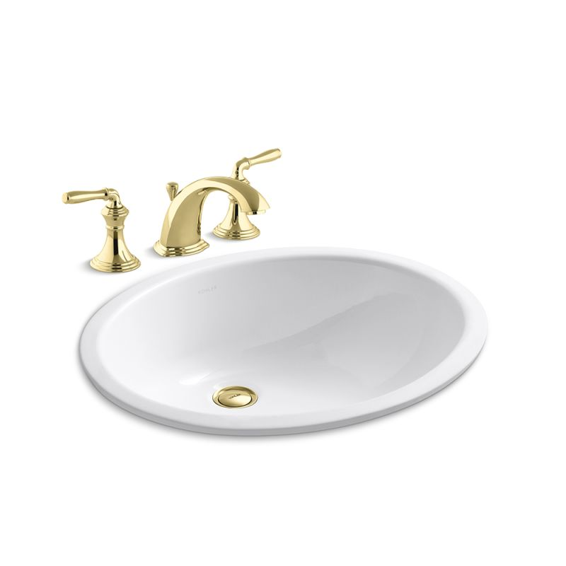Kohler K-394-4/K-2210-PB Polished Brass Devonshire Widespread Bathroom ...