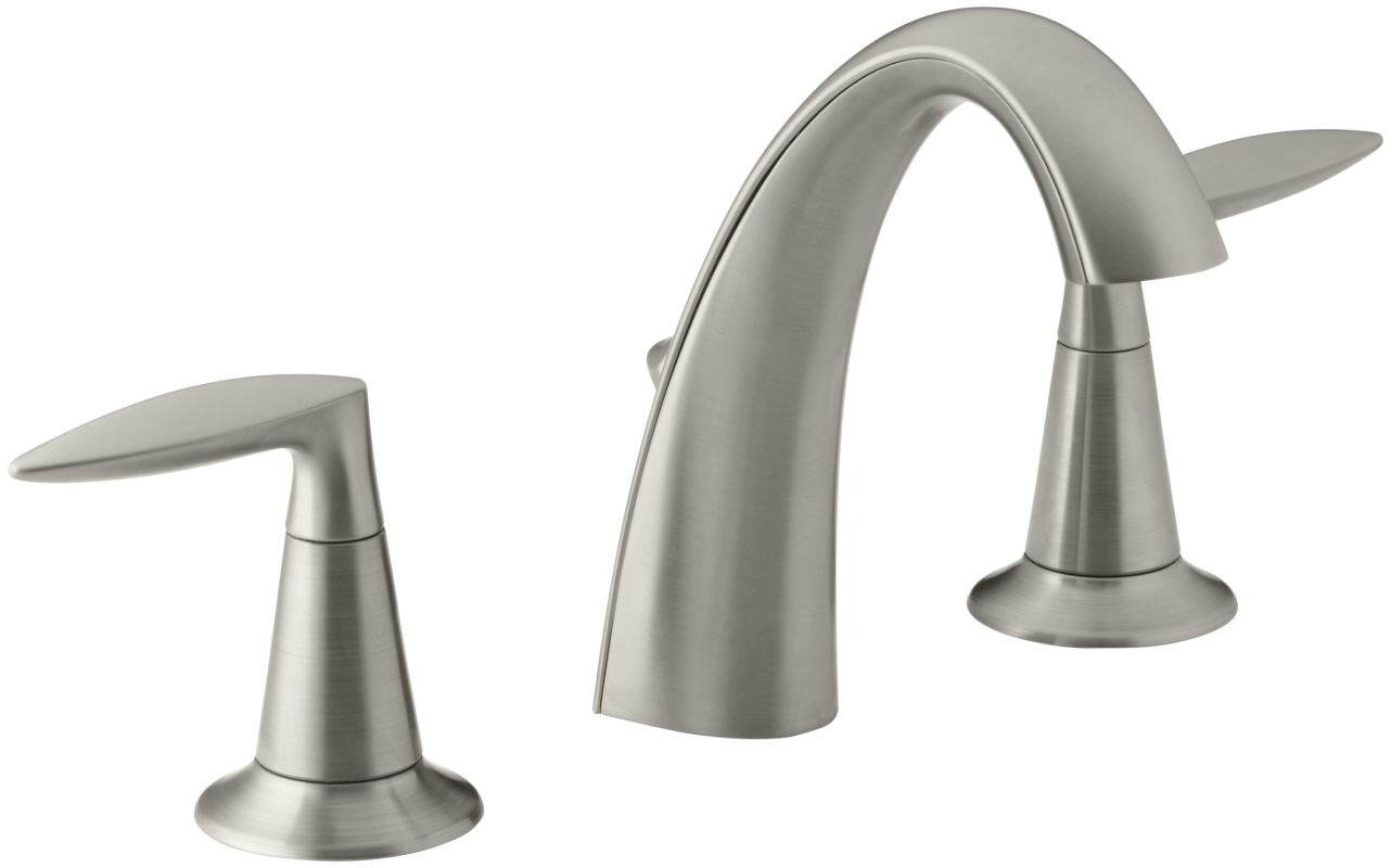 K 45102 4 bn in vibrant brushed nickel by kohler - 4 inch widespread bathroom faucets ...