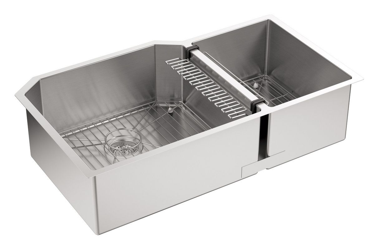 ... Kitchen Sink and Pullout Spray Kitchen Faucet - Includes Basket