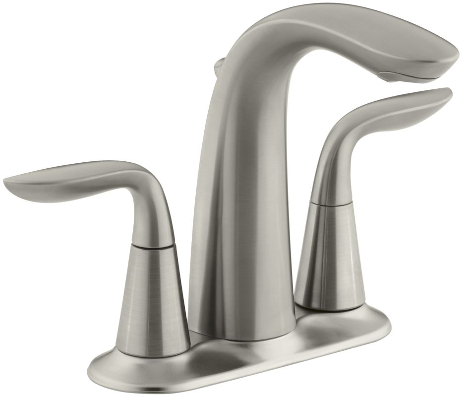 kohler k 5316 4 bn vibrant brushed nickel refinia centerset bathroom