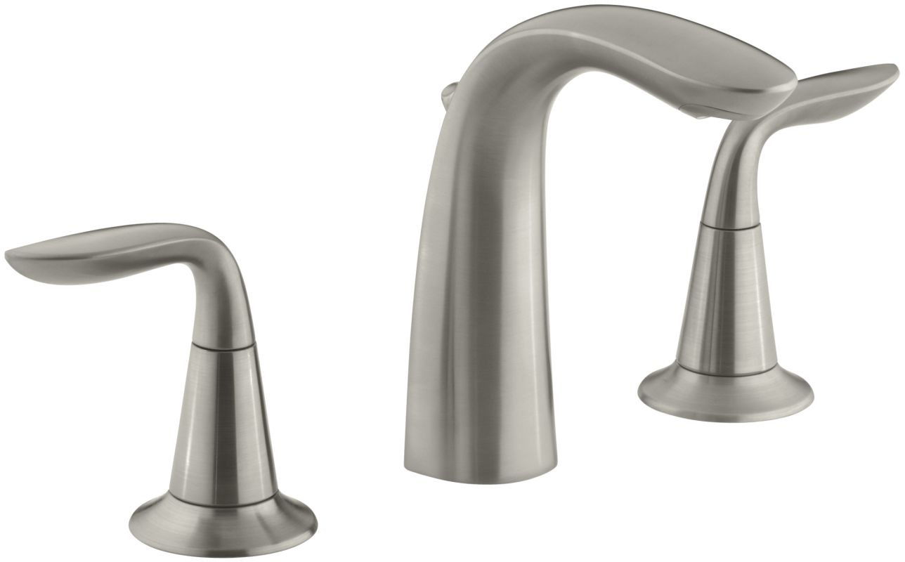 Widespread Bathroom Faucet Clearance : 5317-4-BN Vibrant Brushed Nickel Refinia Widespread Bathroom Faucet ...